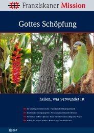 Gottes Schöpfung - Neue Provinzleitung der Deutschen Franziskaner
