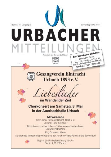 Sommerferienbetreuung 2010 für Schüler - Gemeinde Urbach