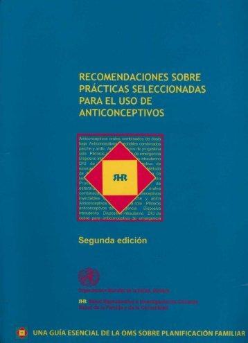 recomendaciones sobre prácticas seleccionadas para el uso de ...