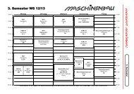 3. Semester WS 12/13 - Fachschaft Maschinenbau