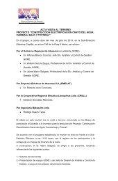 ACTA VISITA AL TERRENO PROYECTO - Gobierno Regional de ...