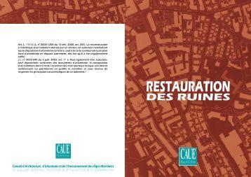 Restauration des ruines - CAUE 06