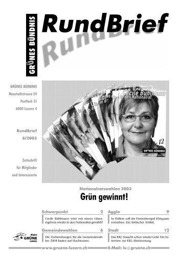 Nr. 6/2003 - Grüne Luzern