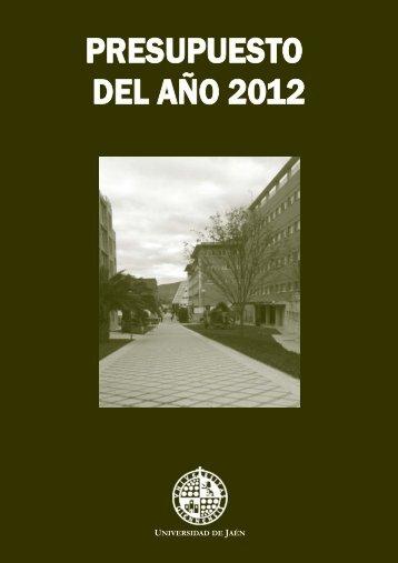 Presupuesto 2012.pdf - Universidad de Jaén