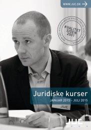 JUC kurser for advokater og jurister 1-2015