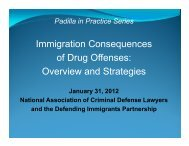 Immigration Consequences of Drug Offenses: Overview ... - NACDL