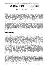 Nepal & Tibet - Juni 2006 - Adventure Geo Treks Deutschland