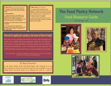 The Food Pantry Network - Cambridge Public Health Department