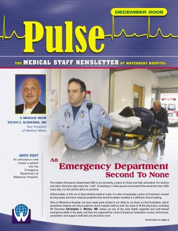 Emergency Department Emergency Department - Waterbury Hospital