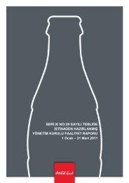 SERĠ:XI NO:29 SAYILI TEBLĠĞE ĠSTĠNADEN ... - Coca Cola İçecek
