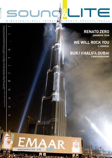 renato zero we will rock you burj khalifa dubai - Sound and Lite