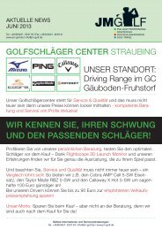 unser Aktuelle News mit Schläger Sonderangebote - JM Golf