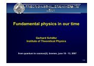 Fundamental physics in our time - ZARM
