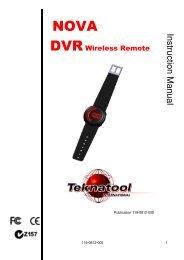 DVR Wireless Remote Manual 17.08 - Teknatool