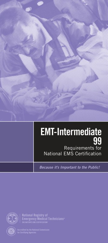 EMT-Intermediate/99 - National Registry of Emergency Medical ...