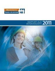 RAPPORT AUX INTERVENANTS 2011 - Travail sécuritaire NB