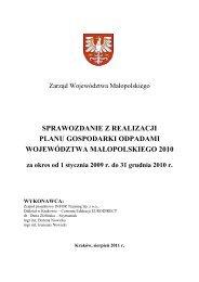 Sprawozdanie z realizacji Planu Gospodarki Odpadami ...