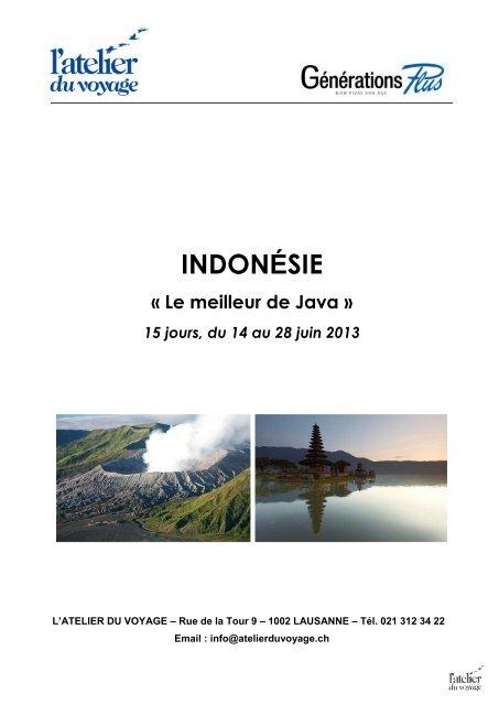 INDONÉSIE - Atelier du Voyage