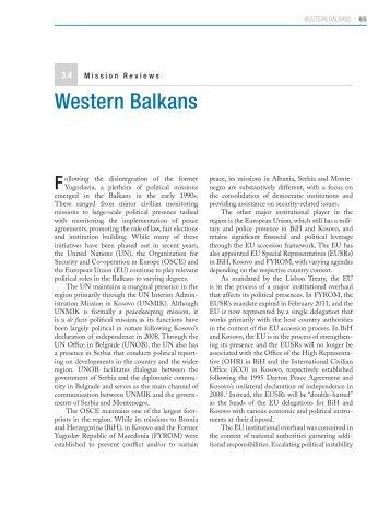 Wester Balkans - Center on International Cooperation