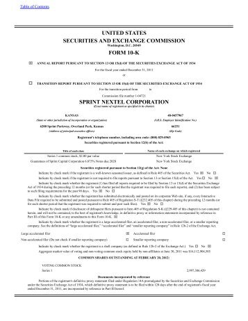 united states securities and exchange commission form 10-k sprint ...