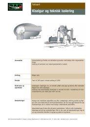 Kiselgur og teknisk isolering - BAR Bygge & Anlæg
