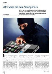 «Der spion auf dem smartphone» - Ursula Uttinger