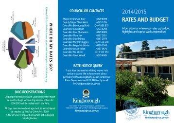 2013/2014 RATES AND BUDGET - Kingborough Council