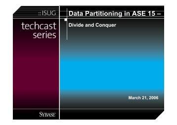 View the Presentation (PDF) - Sybase