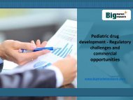 Pediatric drug development Market,commercial opportunities