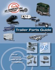 Trailer Parts Guide - Six Robblees