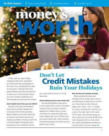 Credit Mistakes - Tinker Federal Credit Union