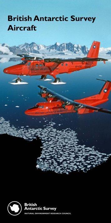 Public information leaflet_AIRCRAFT.indd - British Antarctic Survey