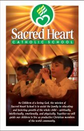 As Children of a loving God, the mission of Sacred Heart School is to ...