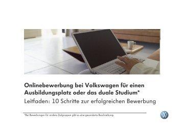 Leitfaden Zur Richtigen Onlinebewerbung Bei Volkswagen