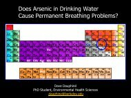 Does Arsenic in Drinking Water Cause Permanent Breathing ...