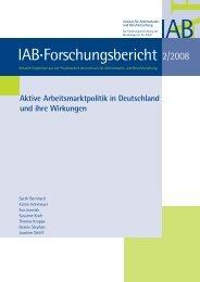 Aktive Arbeitsmarktpolitik in Deutschland und ihre ... - ResearchGate