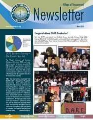 Streamwood Newsletter - March/April 2010 - Village of Streamwood
