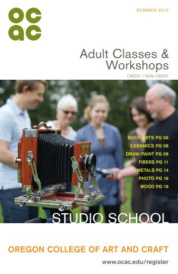 Printable Studio School Registration Form - Oregon College of Art ...