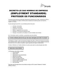 Portuguese - Employment Standards Protecting Employees