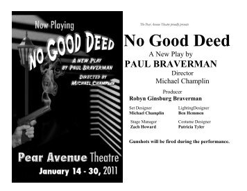 No Good Deed - The Pear Avenue Theatre