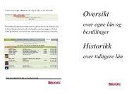Oversikt over egne lån og bestillinger - Nord-Odal Kommune