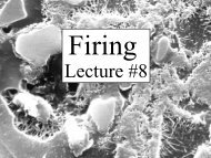 Lecture #8 - Alfred's Clay Store