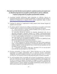 Procedura privind derularea procesului de examinare pentru ...