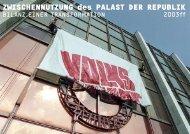 ZWISCHENNUTZUNG des PALAST DER REPUBLIK - Urban Catalyst