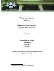 IBSA Regional Security Dimensions - Centre for Policy Studies