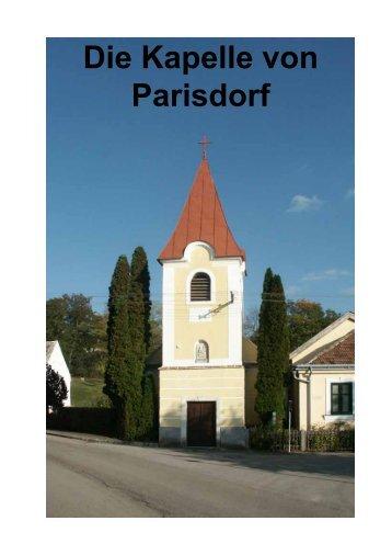 Die Kapelle von Parisdorf - Pfarre Ravelsbach