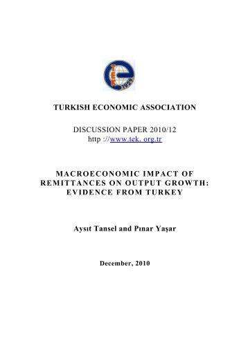 turkish economic association - Türkiye Ekonomi Kurumu