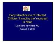 Early Identification of Infected Children Including the Youngest in Need