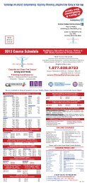 2013 Course Schedule - Clinical Solutions