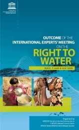 International Experts' Meeting on the Right to Water ... - Hydrology.nl
